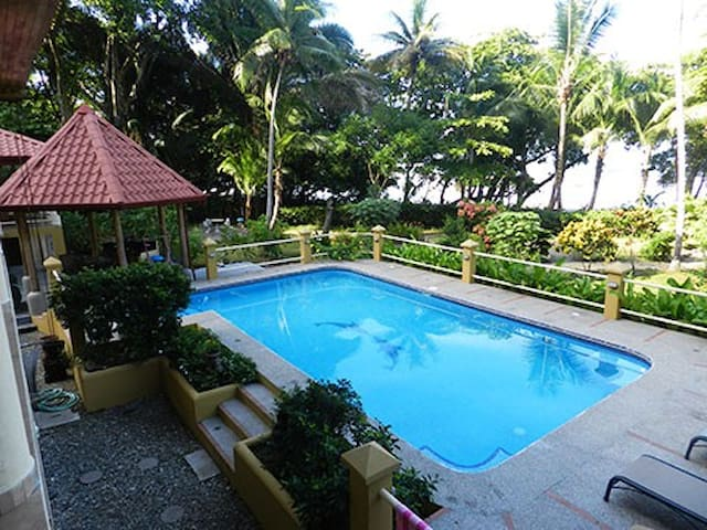 Beach House Incognito on secluded beach with pool.