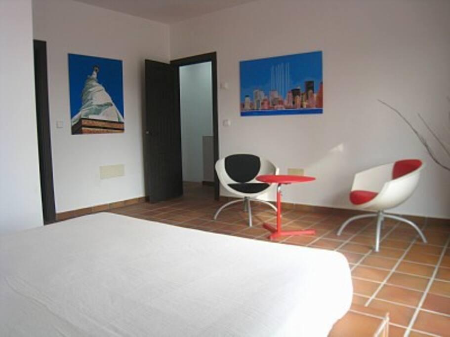 Dormitorio 1 Planta 1 con acceso a terraza