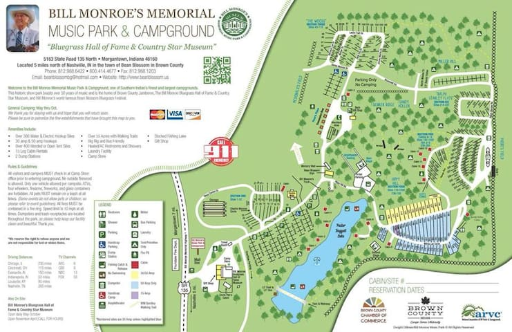 Map of the Campgrounds