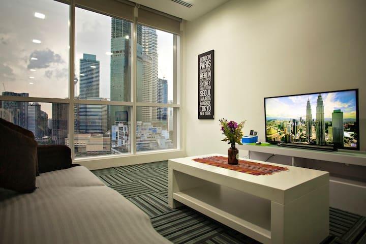 WTE 3-4 pax Binjai 8 1-bedroom window on KLCC