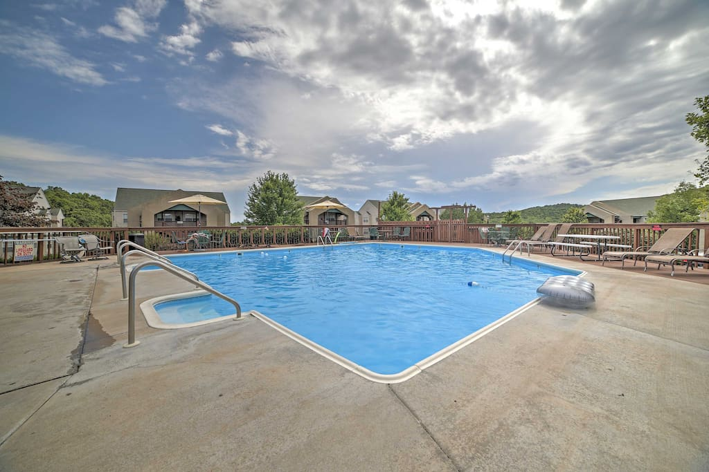 Spend your days relaxing by the community pool.