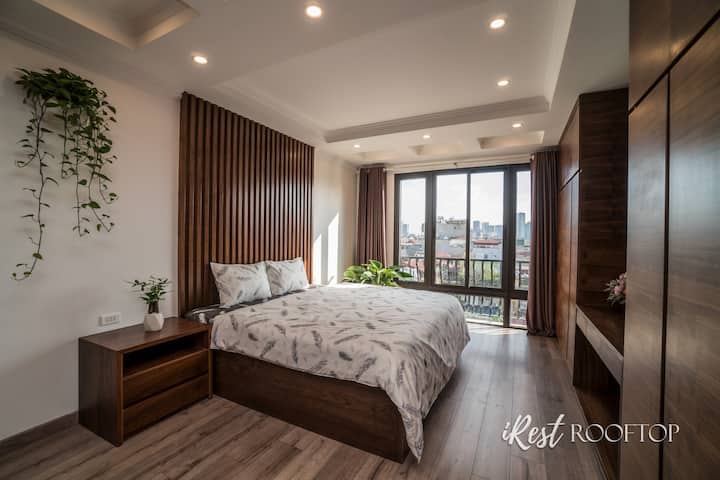 """iRest Rooftop 330m2/5BR/Big Terrace/CityView/65""""TV"""