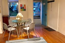 Lower Level Unit: Dining Area and front entry way