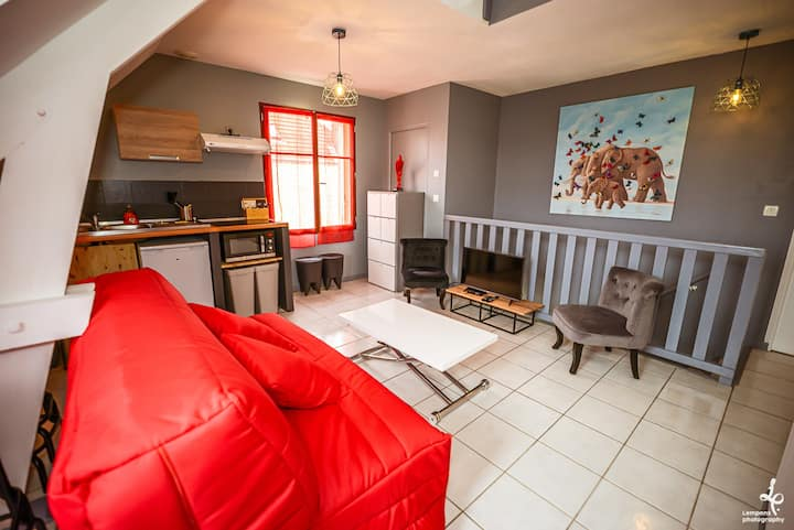 DUPLEX CENTRE VILLE 6 personnes (WIFI/PARKING)