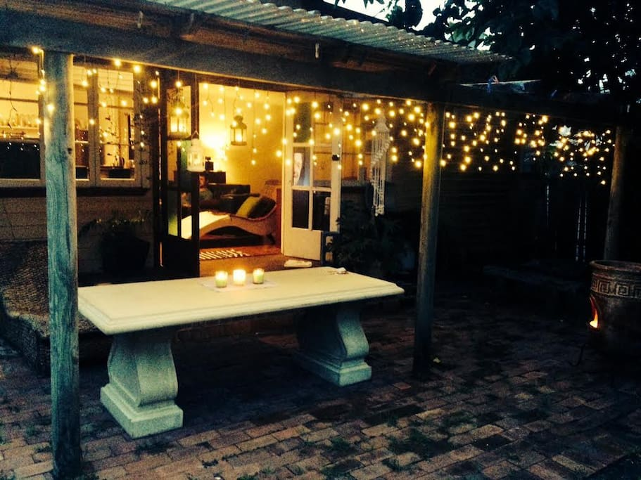 back yard and your provate dining area