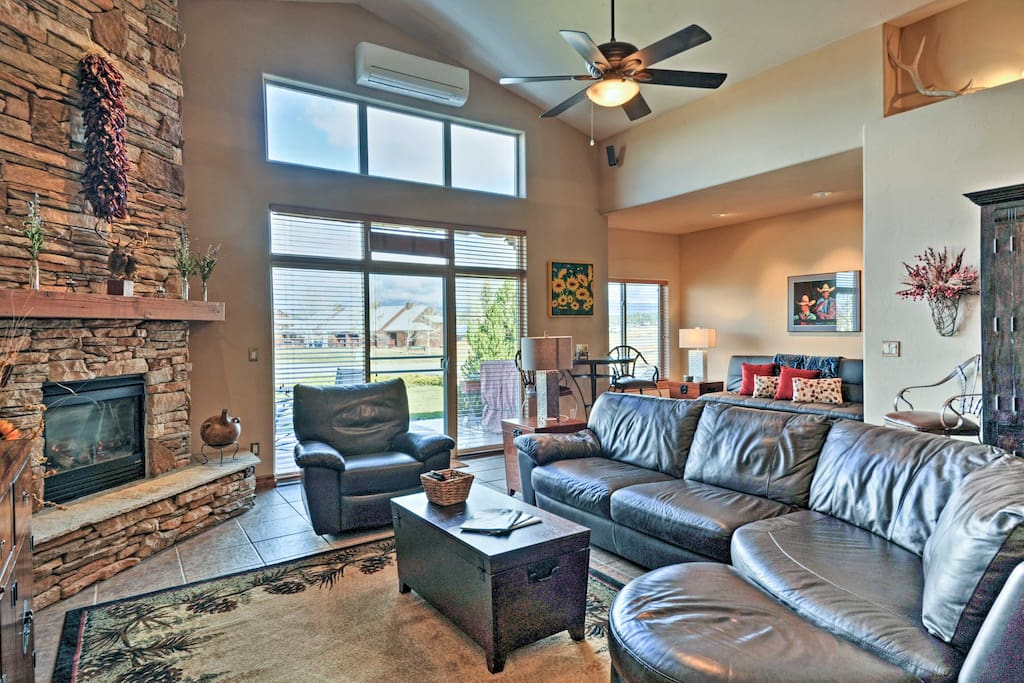 The 2,227-square-foot interior boasts 3 bedrooms, 3.5 bathrooms, and a cozy living area.