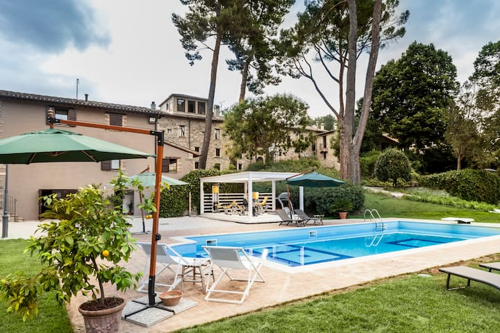 Historical villa with private pool and gym