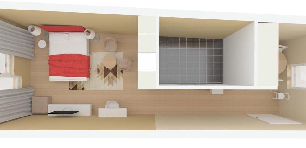Apartment studio Halicka 010