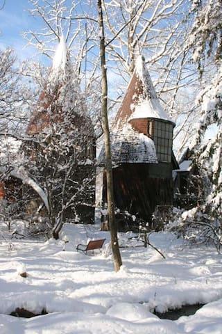 Silo Studio in Winter
