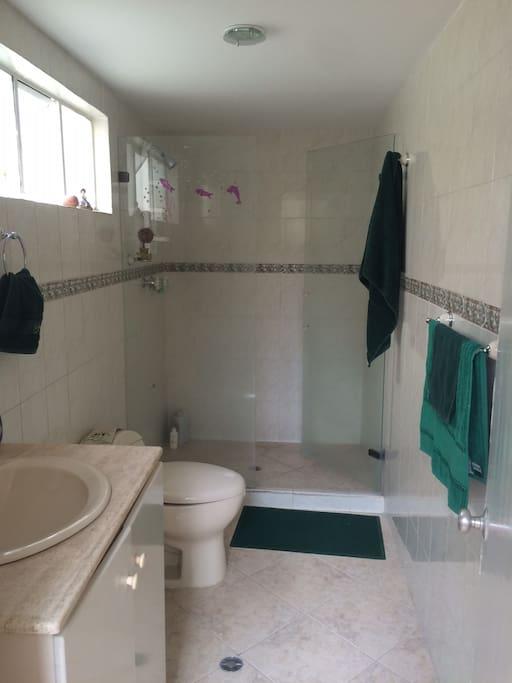Big Bathroom with hot water