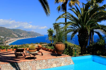 PANORAMIC SUITE + Apartment Sea View Pool Taormina