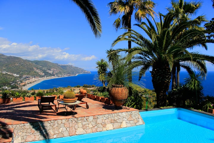 VILLA LOU SUITE TAORMINA Sea View Pool