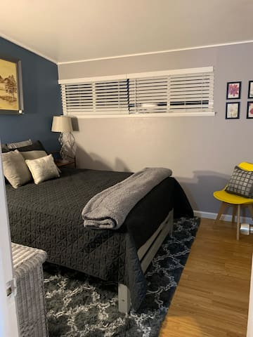 Private bedroom with full bed