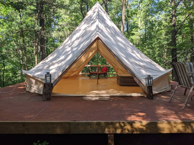 The Treeheart Private Campsite in the Woods!