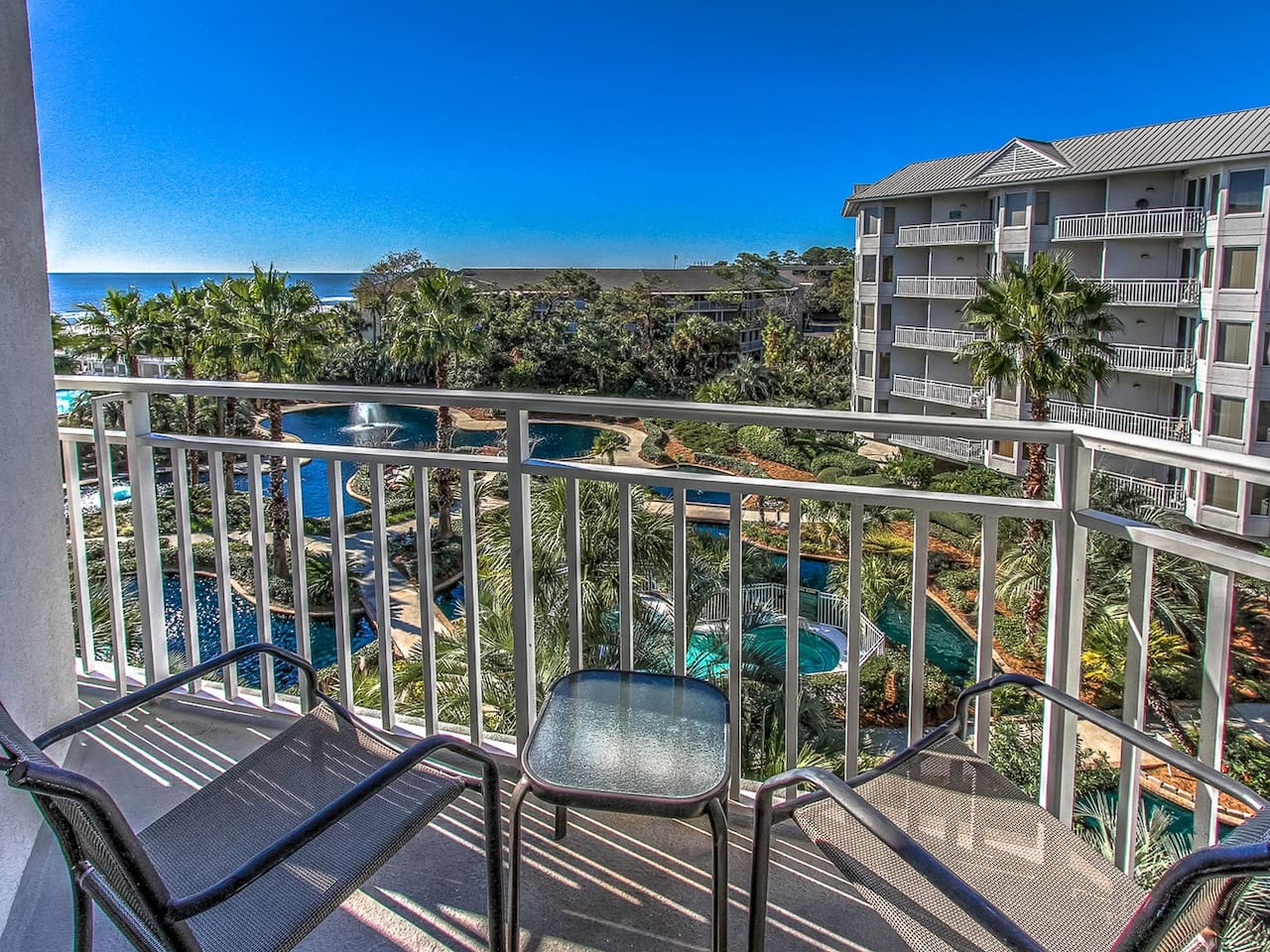 Private Balcony from Master Bedroom at 2406 Sea Crest