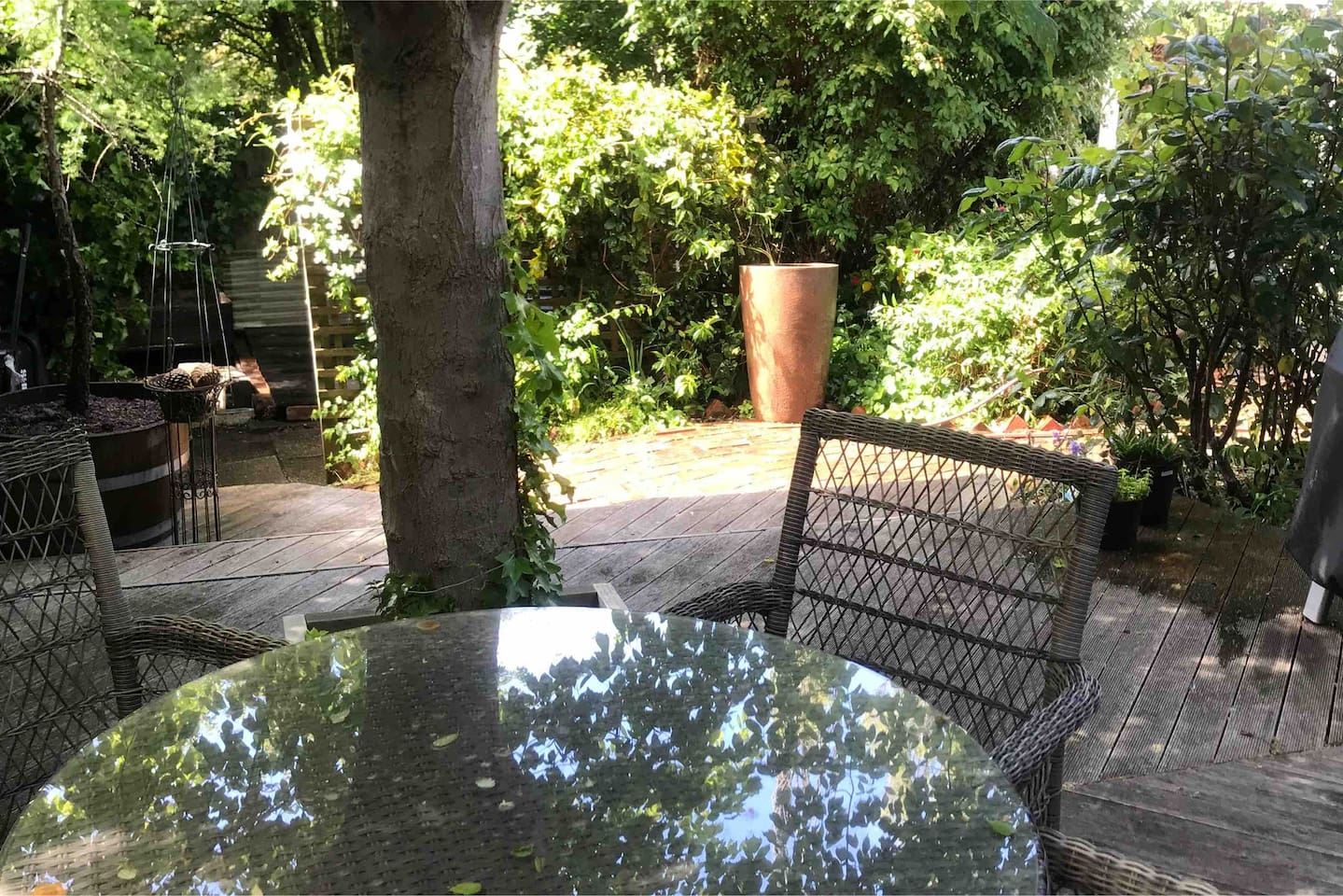 Private back deck to enjoy a BBQ or relax with a wine and book