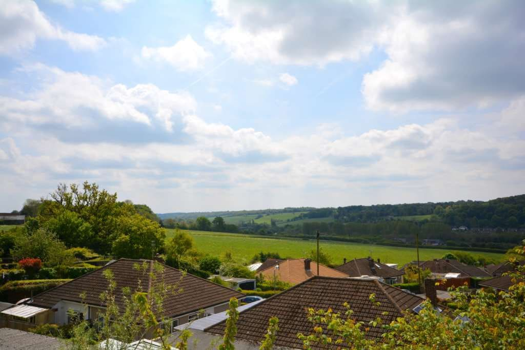 Incredible view over the Chiltern Hills and Amersham in the background