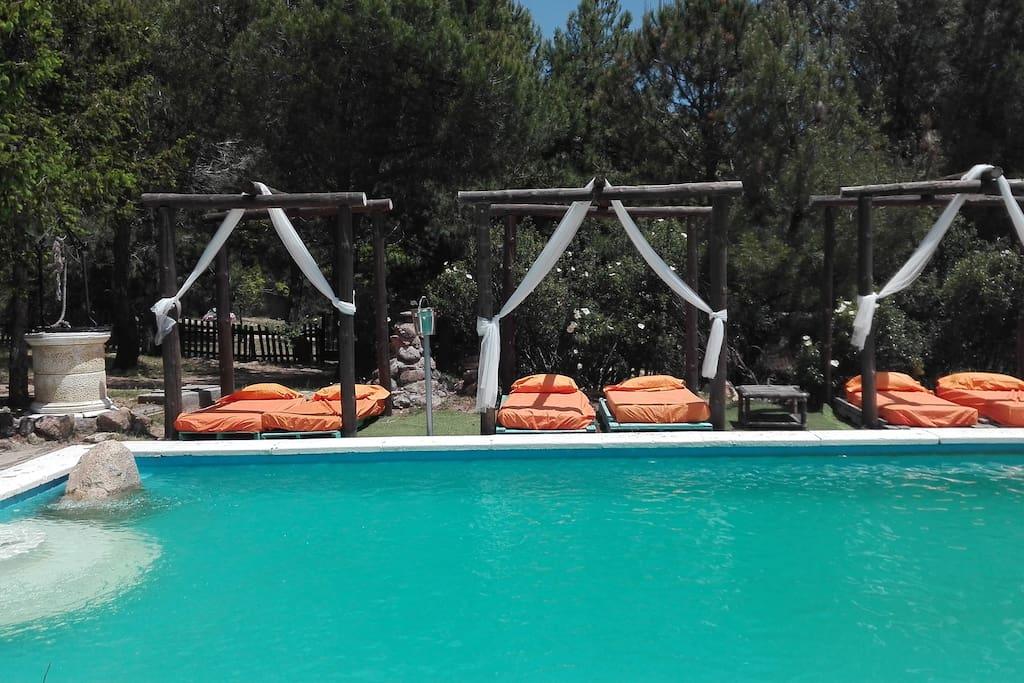 Villa en la monta a de la pedriza 17 plazas casas para for Piscina moralzarzal