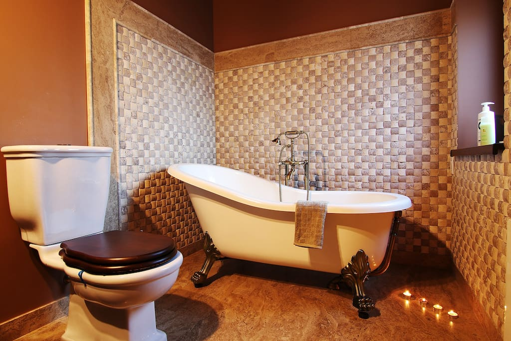 Bathroom 1 with bathtub