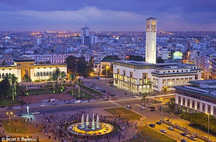Chambre avec terrasse privée centre ville - Casablanca - Apartemen