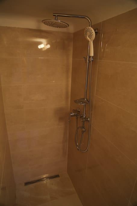 Shower corner in the bathroom