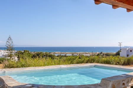 My Vintage Home, Private pool - Sea View, Naxos
