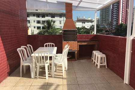 Canto do Forte 2 Dorm Suite Apto C/ Quintal Garden