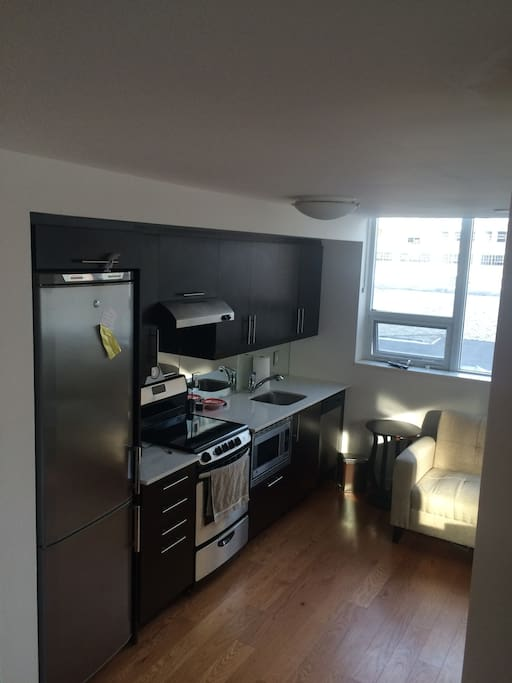 Large, spacious, kitchen. Including coffee Bosch coffee maker and microwave.