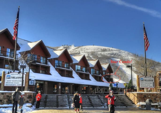 5 STAR  ski-in/out upgraded condo @ PARK CITY resort! wi-fi, hot tub, pool, gym, sauna, washer