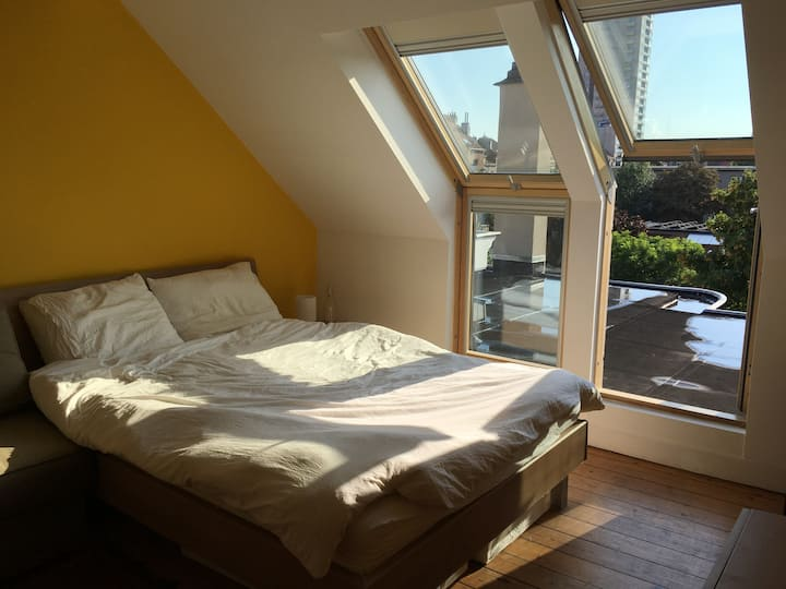 Beautiful Loft in St Gilles with sunny terrace