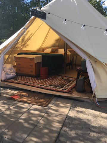 Glamping Tent #1 w 2 Luscious Beds