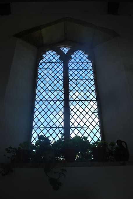 Window in the medieval hall