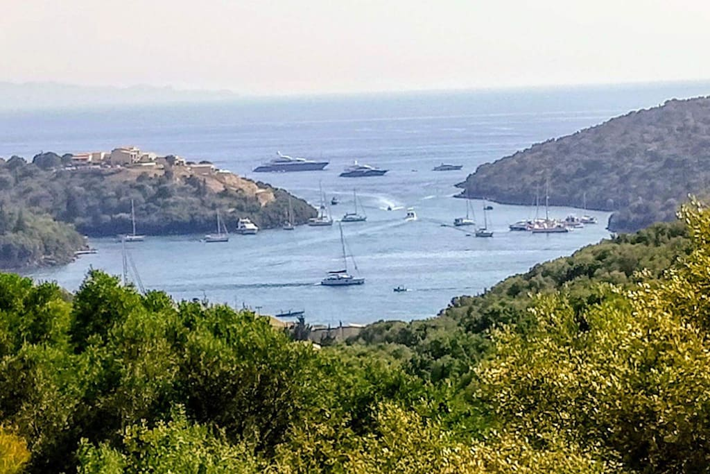 Sailing  around the small islands of Syvota