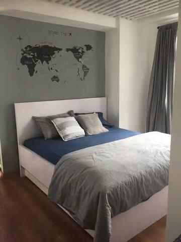 Chung cư đầy đủ tiện nghi 1 phòng ngủ+ khách phố