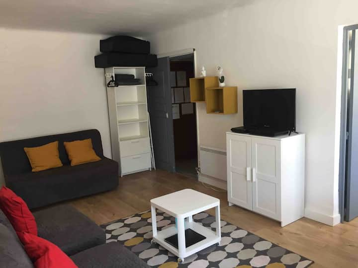 Studio 20m de la mer, 4 pers. Wifi, parking privé