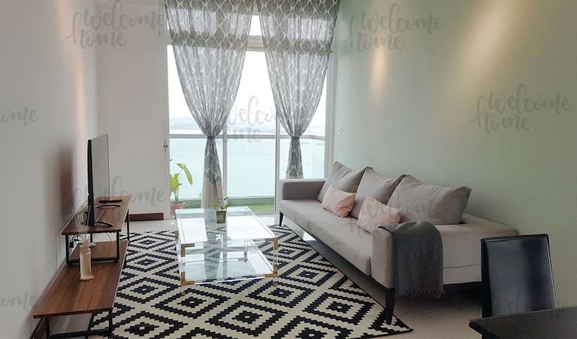 180° Seaview JB#130sqm 3bed3bath#FreeWifi#高级海景公寓