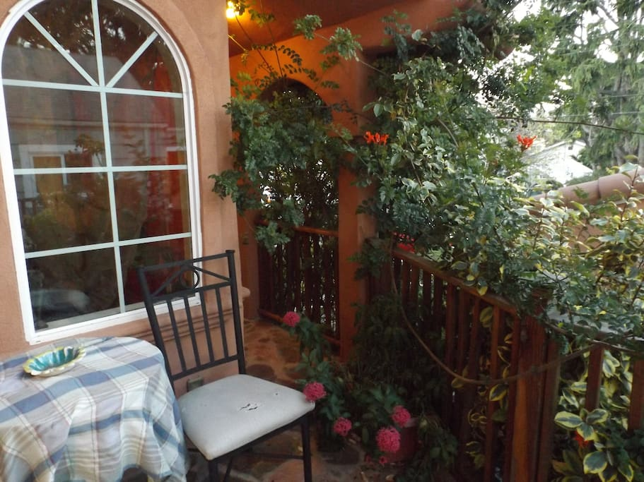 Enjoy your breakfast or cup of tea on the sunny and private patio.