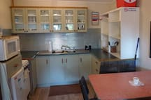Our very clean,    fully equipped      kitchen with everything you'd think of + a few     things you wouldn't think of!