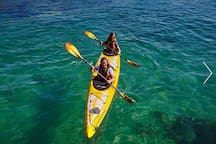 Kayak and Stand Up Paddleboards available to hire locally.