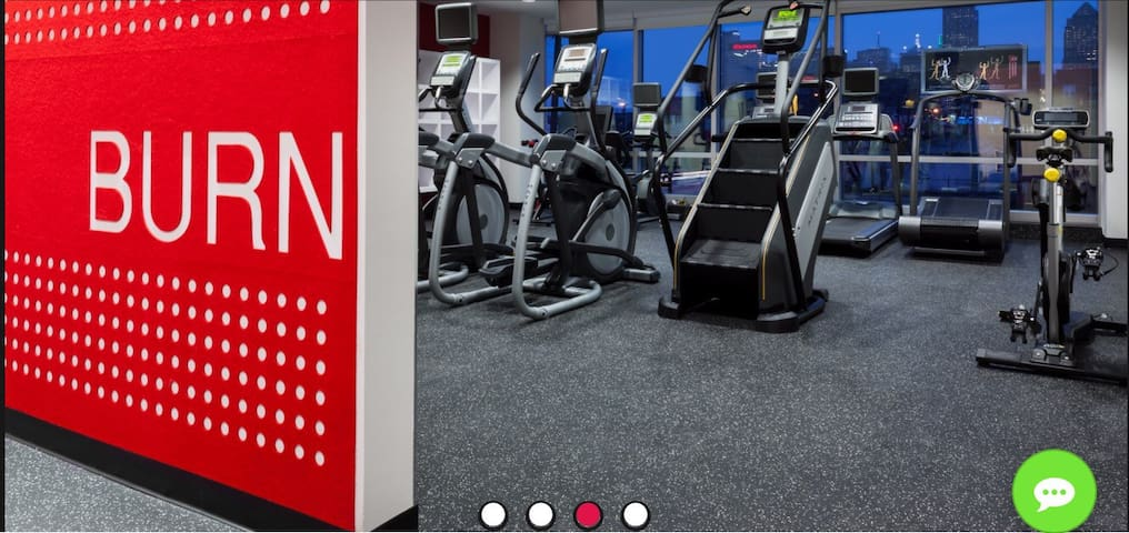Exercise cardio room located on site