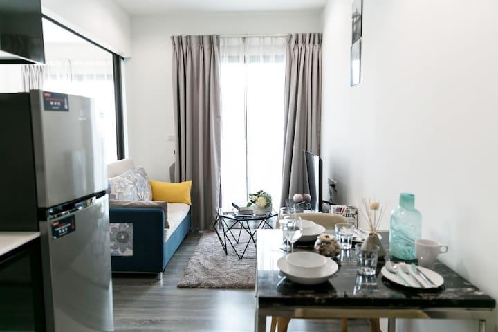 精致小公寓周租大优惠中 临近BTS 出行非常方便 商旅度假值选bkrich2