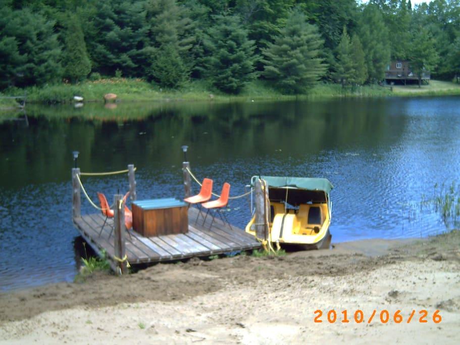 lac façe au chalet