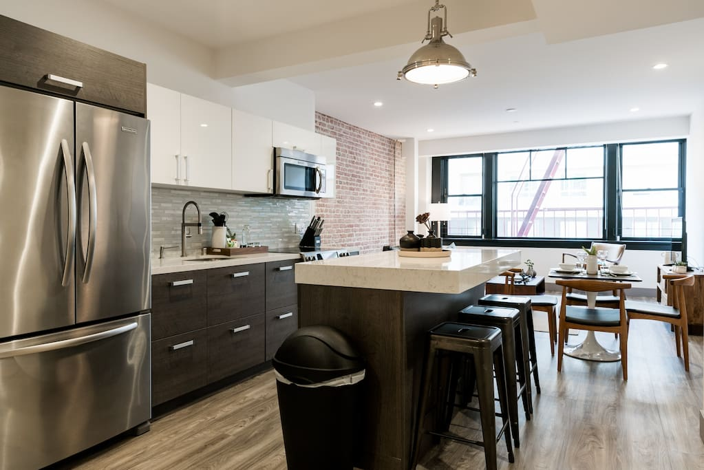 Kitchen + Living Spaces