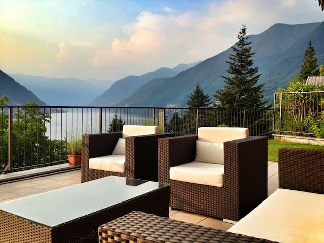 COMO LAKE AMAZING VIEW - Faggeto Lario - Appartement