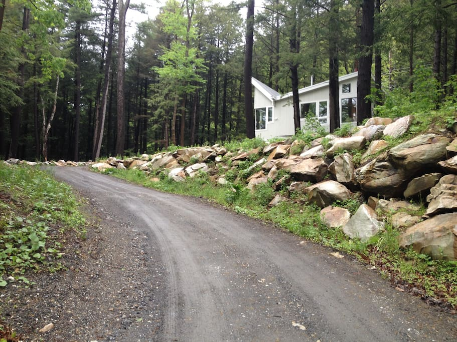The driveway approach to Great Barrington's most interesting new construction.