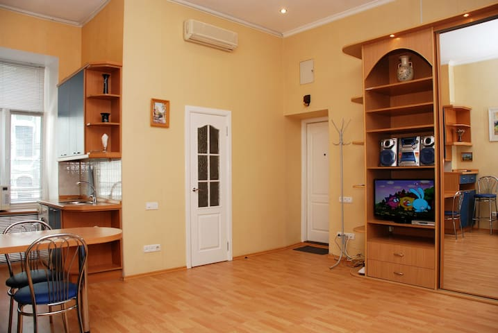 Quiet studio at Khreschatyk - Kiev - Apartamento