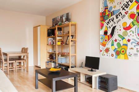 Chambre calme dans T3, proche Paris - Ivry-sur-Seine