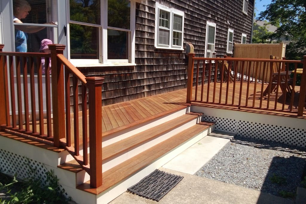 Stairs to the new deck