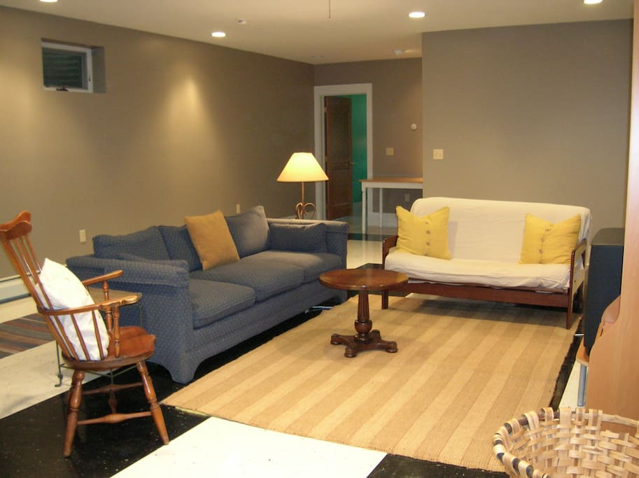 Family Suite Living Room and Futon