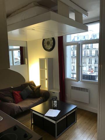Joli studio pour pied à terre à Paris !  Nice Parisian studio !